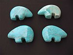 Amazonite Fetish Bear 5flats (90 pcs)