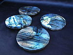 Labradorite Coasters (4 Piece Set) - 2 Sets