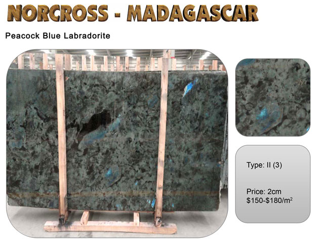 Peacock Blue Labradorite Slab