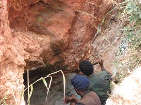 Extracting Amazonite Rough