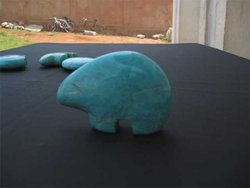 Amazonite Fetish Bear Box (200 pcs)