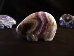 Banded Amethyst Fetish Bear