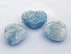 Blue Calcite Heart 200g