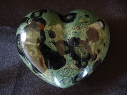 Crocodile Jasper Heart 200g
