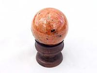 Orange Calcite Spheres 50mm - 2pc Lot