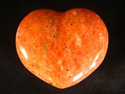 Orange Calcite Heart 90g