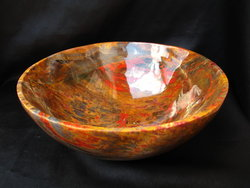 Petrified Wood Bowl 8.5 inch - 1.72Kg