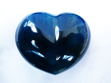 Blue Agate Heart 200g