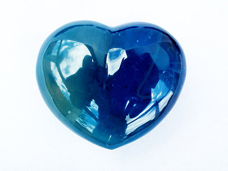 Blue Agate Heart 90g - 1 Box (150pcs)