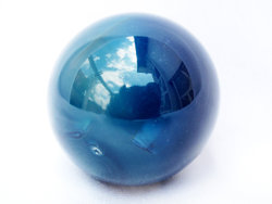 Blue Agate Spheres 55mm