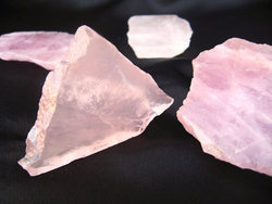 Rose Quartz Polished One Face 5.5lb (1 Bag)