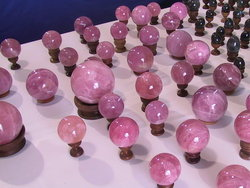 Top Red Rose Quartz Spheres 60mm 2PC Lot