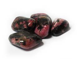 Rhodonite Tumbled Stones Medium (20-30mm) 1LB