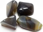 Agate Grey Tumbled Stones Large (30-45mm) 1LB Bag