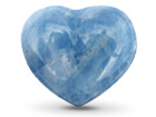 Blue Calcite Decorative Heart