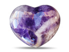 Banded Amethyst Decorative Heart