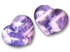 Amethyst Banded Small Jewellery Heart