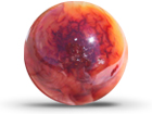 Carnelian Spheres 55 mm 2pc Lot