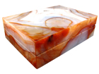 Carnelian Jewellery Boxes - 2pcs
