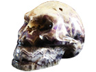 Amethyst Skull Carving - Large