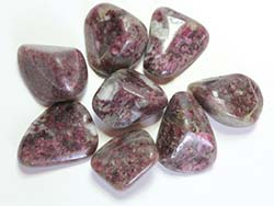 Ruby Tourmaline Tumbled Stones Medium (20-30mm) - 1LB