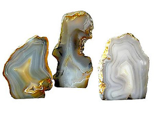 Banded Banded Agate Plaque 1LB/PC