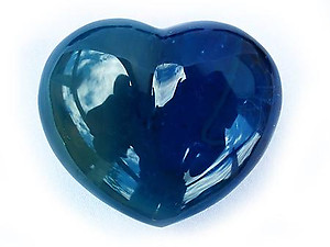 Blue Agate Decorative Hearts