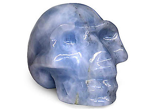 Blue Calcite Large Skull
