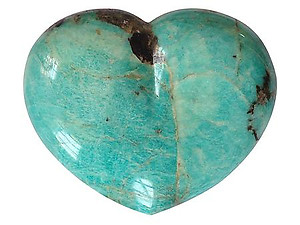 Amazonite Large Hearts 7-8 inch