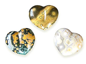 Sea Jasper Small Jewelry Heart