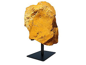 Yellow Jasper Rough On Base - Large