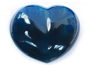 Blue Agate Large Decorative Heart