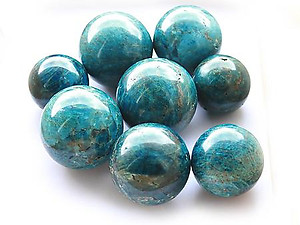 Apatite Spheres (55mm) - AA Quality