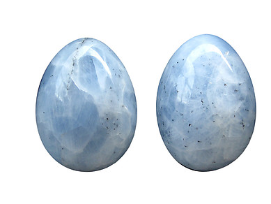 Blue Calcite Eggs - 55mm