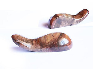 Petrified Wood Massage Tools - Handheld Design