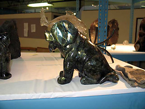 Labradorite Large Dog Sitting