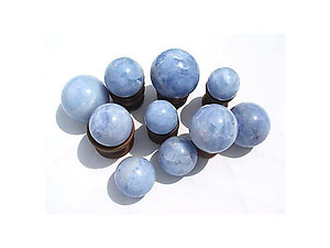 Wholesale - Diego Blue Calcite Spheres (40-60mm)