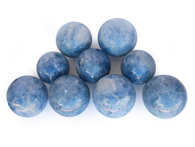 Blue Calcite Large Spheres (110mm)