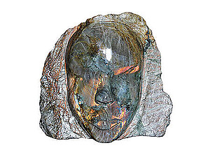 Fire Labradorite Face