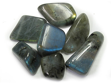 Labradorite Peacock Blue Tumbled Stones - Extra Large (45-60mm) - 1LB