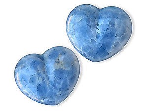 Blue Calcite Hearts 6 inch