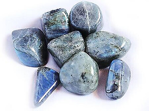 Peacock Blue Labradorite Tumbled Stones - Medium (20-30 mm pcs) - 1 LB bags