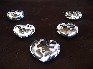 Indigo Gabbro Small Jewelry Hearts