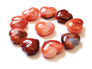 Carnelian Small Jewelry Heart