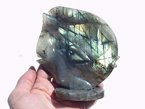 Labradorite Sun Fish Carving