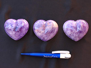 Amethyst Large Decorative Hearts - 1 Flat (12pcs)