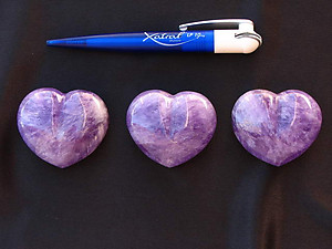 Amethyst Decorative Hearts -1Flat (20pcs)