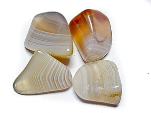 Banded Agate Tumbled Stones Large (over 30mm) - 10LBS