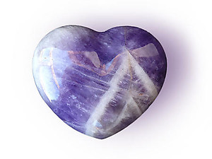 Amethyst Banded Small Jewelry Heart
