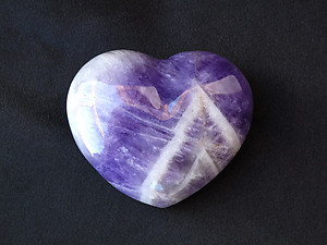 Banded Amethyst Large Decorative Hearts - 1 Flat (12pcs)